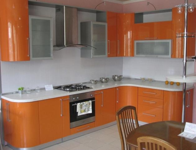 Угловая кухня «Оранжевые бархатцы»