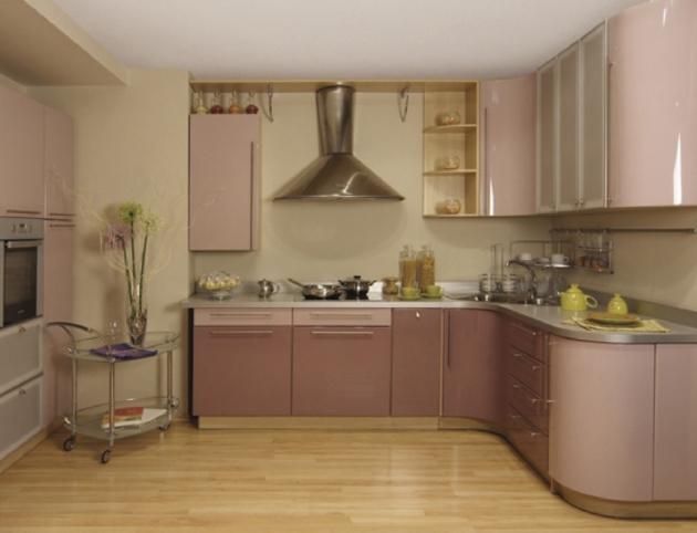 Кухня «Розовый коралл» + «Темпера»